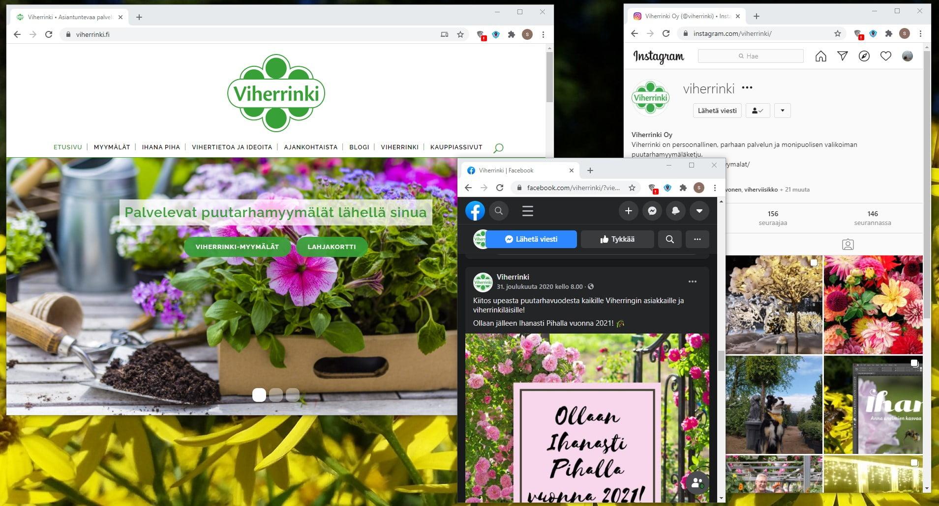 Viherringin verkkosivuja kehitetään uuteen kevääseen